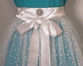 Snow Princess Hostess Apron Glittery Snowflake- Sheer -Womens- ladies