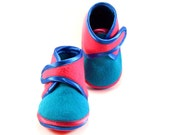 Baby Booties Colorful Baby Shoes Newborn Winter Turquoise Pink