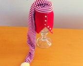 OOAK CHRISTMAS Baby Boy/Girl Sweater Hat w/ Pom Pom