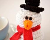 Snowman Ornament - CROCHET PDF PATTERN - ThePudgyRabbit