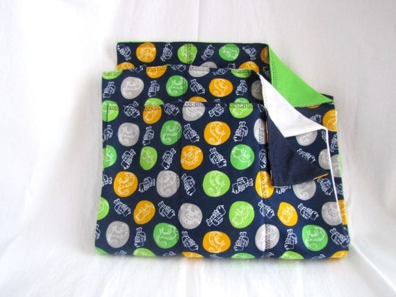 Set of Three Burp Cloths - Dinosaurs