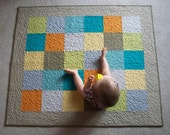 Made to Order Modern Patchwork Baby Quilt w/FREE US Shipping - PeaceLoveandQuilts