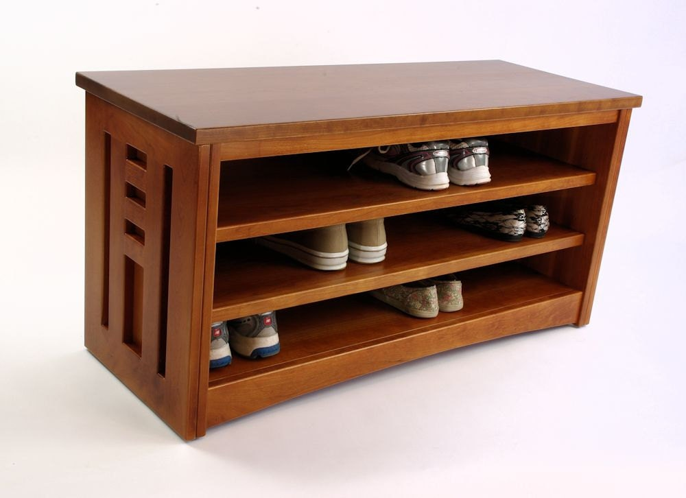 Cherry Wood Shoe Racks Houses Plans Designs