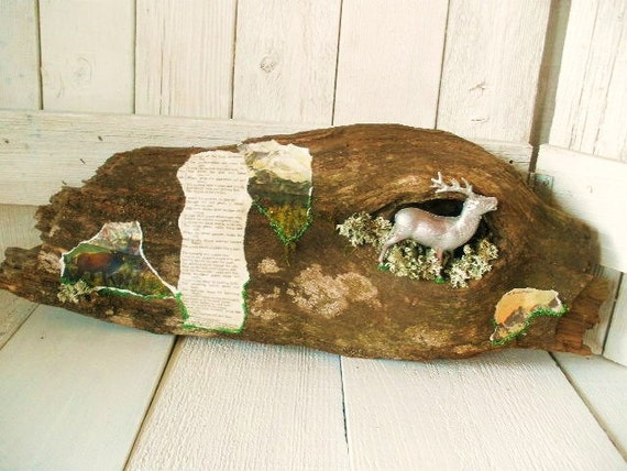 Vintage nature assemblage deer wall hanging