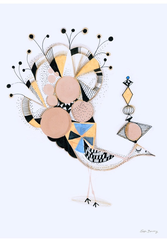 Bird Elegance, 30 x 43cm