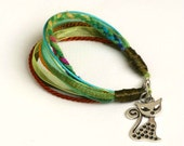 green cat bracelet - KIOSC