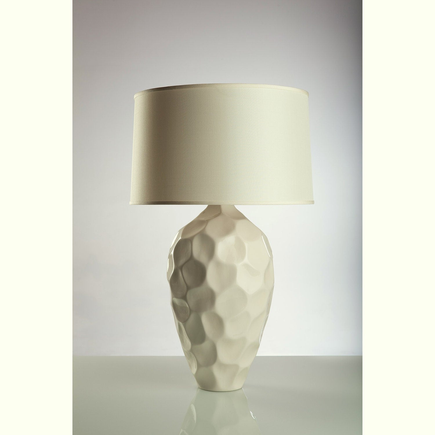 silk lamp shades on honeycomb porcelain lamp with ivory silk shade by. Black Bedroom Furniture Sets. Home Design Ideas