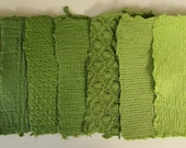 Handmade Paper - Recycled - Avocado Green - Texture - TheWhatNaught