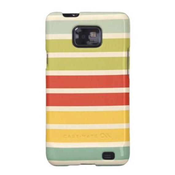 Samsung Galaxy S2 Cover, team madcap, Samsung Galaxy S2 case, Samsung Galaxy S2 decoupage case - Color Strip