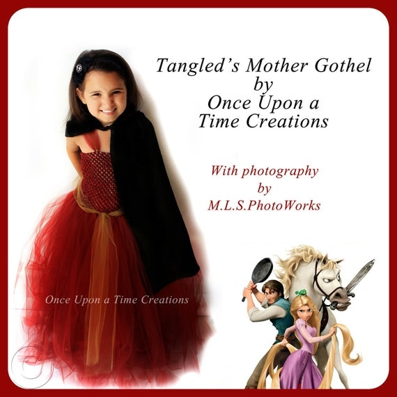 Mother Gothel Inspired Villian Tutu Dress - Birthday Outfit, Photo Prop, Halloween Costume - 12M 2T 3T 4T 5T - Disney Tangled Inspired