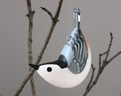 White-Breasted Nuthatch Sculpted Ornament - MPrinceGallery