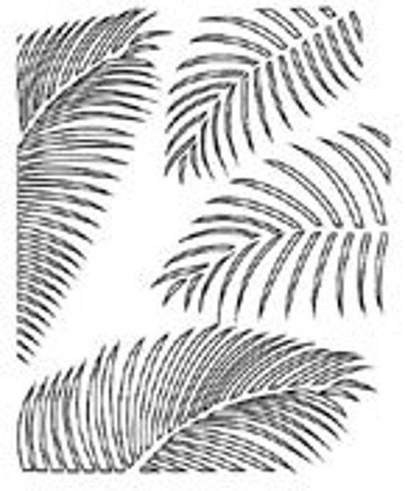 Palm Frond Stencil Scrap FX Scrapbooking Art Mixed Media Card Making Painting Crafting