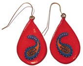 PAISLEY RED earrings wire frame
