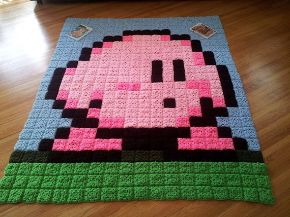 Kirby 20th Anniversary Afghan
