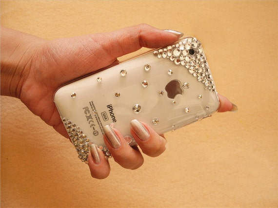 Iphone 3G case iphone 3GS case, iphone case, rhinestone case, transparent hard plastic case, high quality,