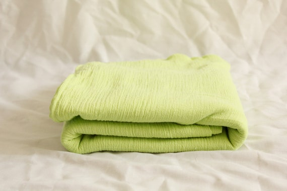 Swaddle Blanket in Lime Green Cotton Gauze