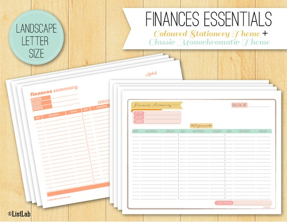 Finance Organization — Printable