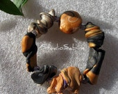 FREE SHIPPING Elegant Earthy Bangle - not your Ordinary Beads - StudioSabine