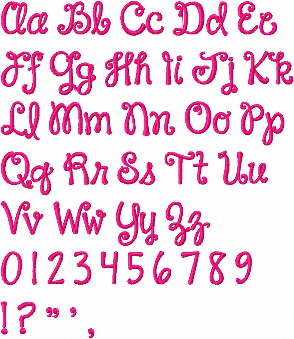Fonts Alphabet Letters Girly