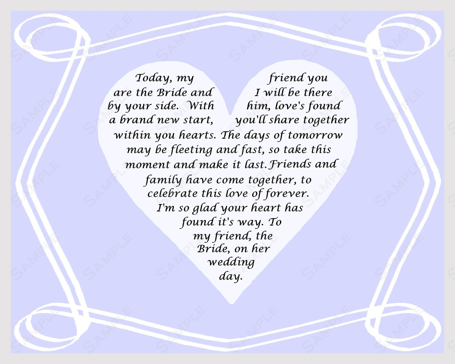 Donot Want A Wedding Gift Poem : Wedding Poetry Bridal Shower Love Poems And Quotes