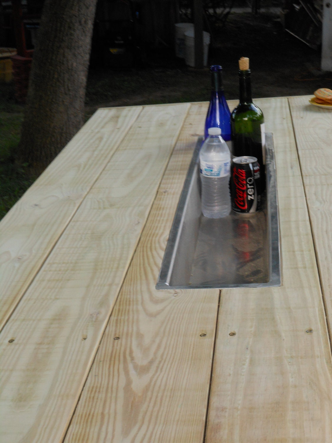 Picnic Table with Trough