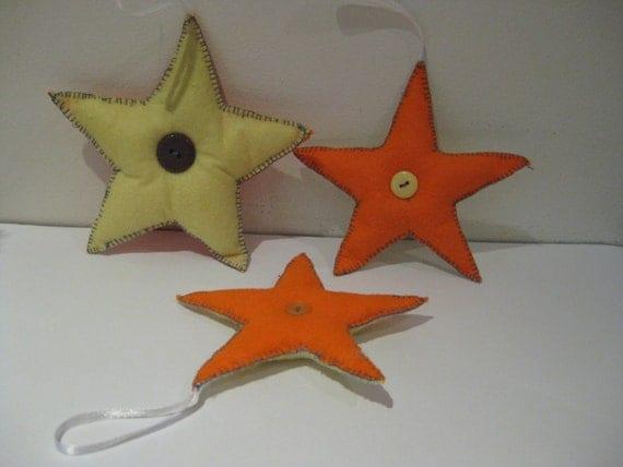 Felted рождественские украшения звезды дерево