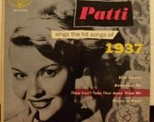 Patti Page -Patti Sings The Hit Songs of 1937 -1953, 45 rpm Record - EP-1-3112, Mercury