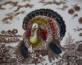 Vintage Thanksgiving Platter Table Settings Turkey Platter Decorations For Sale Made in Japan - UrbanRusticDecor