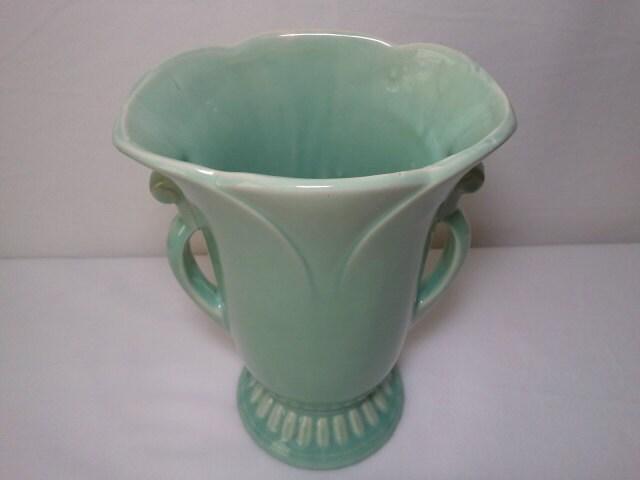 Boyertown Pennsylvania Treasure Hunters Large Green Usa Mccoy Vase
