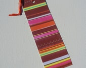 Bright Colorful Stripes Paper Bookmark