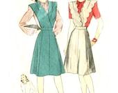 Vintage 40s Jumper / Blouse Pattern - Hollywood 1470 - Four Star Pattern - Scallop Detail - Bust 36 - treazureddesignz