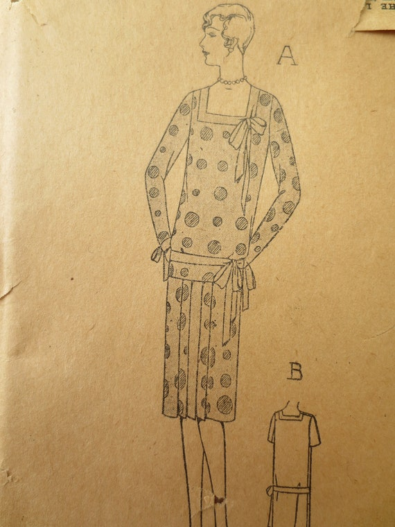 Vintage Sewing Pattern, Ladies Home Journal 5157, 1920s Dress Pattern, Flapper Dress, Bust 32 Inches