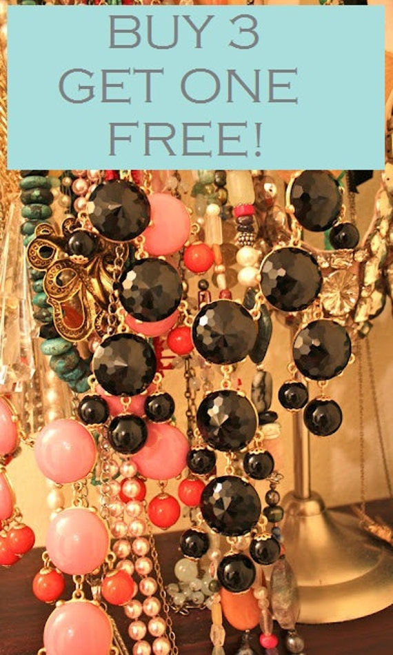 BUY 3 GET 1 FREE Bubble Bib Necklace- Pre Christmas Sale- Pick your colors