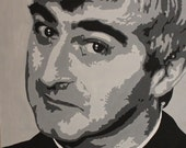 Hand Painted portrait of Father Ted, acrylic on canvas