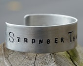 Aluminum Cuff Bracelet- Men's/ Women's SURVIVOR Strength Cuff- ALL SIZES Available