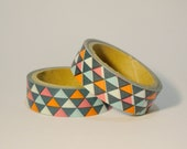 Colour Triangles Washi Tapes / Japanese Masking Tapes - whimsicalcraftss