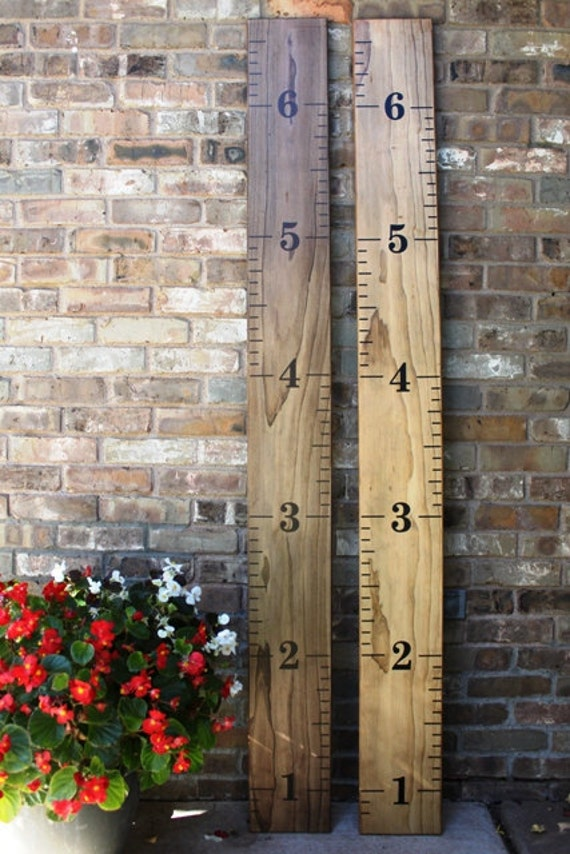 Growth Chart Ruler - DIY Vinyl Decal - Alternating style