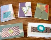 Set of 5 OOAK Collage Gift Cards with Envelopes (3AB)