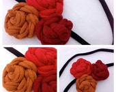 T-Shirt Bloom Headband-Fire-Eco Friendly - whimsiedots