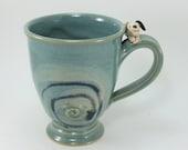 tremendous turquoise  beagle mug