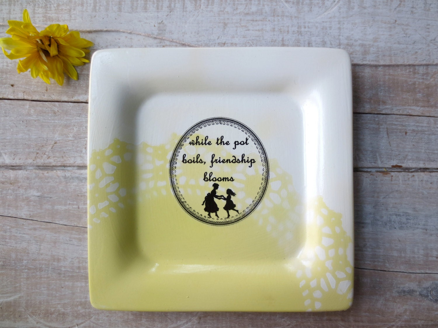YELLOW Cottage Sign Kitchen Decor // Farmhouse by SweetMeas