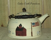 Primitive Saltbox teapot