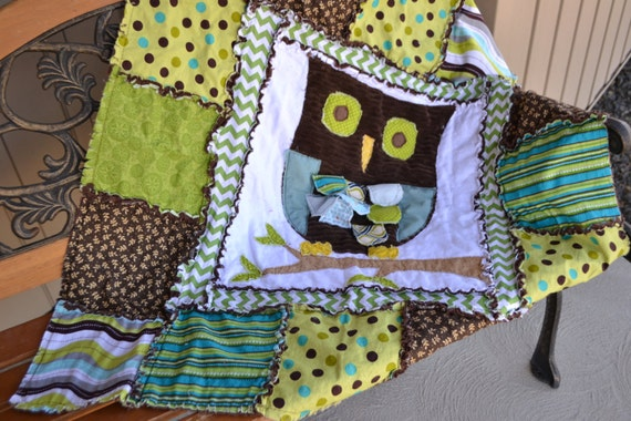 Owl Rag Quilt Pattern by avisiontoremember