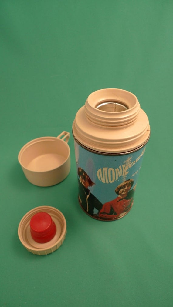 1967 Vintage Monkees Metal Thermos