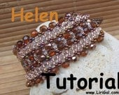 Helen Twin  Superduo  Beadwork Bracelet PDF Tutorial