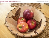 Love It Sale Birds in a Bowl Pyrography