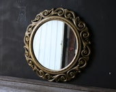 Vintage Mirror Home Decor Gold Color from Nowvintage on Etsy - nowvintage