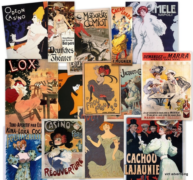 Vintage French Posters at Scrapnow ETsy shop