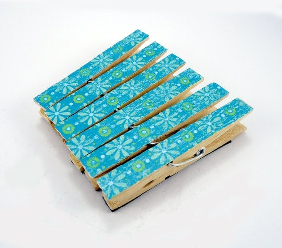Decorated clothespins with magnets