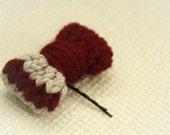 Bow bobby pin